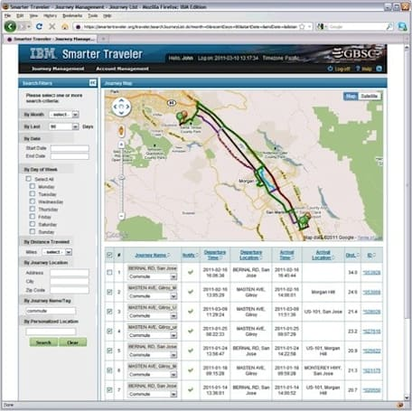 IBM shows off Smarter Traveler traffic prediction tool