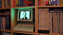 Flickr Find: Digital Steve Jobs on a bookshelf