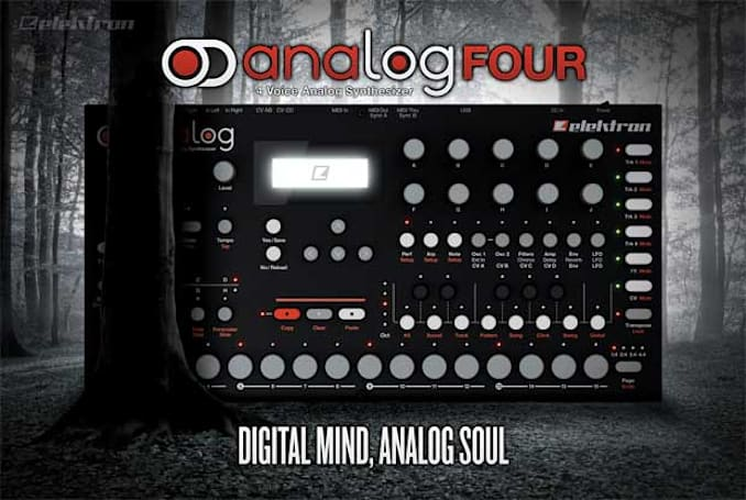 Elektron announces Analog Four synthesizer, spends the naming budget on viral teaser (video)