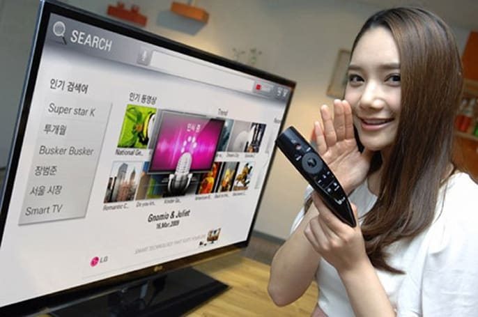 LG's Magic Remote enables voice control for its smart TVs