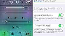 iOS 7 Control Center and Notification Center: Information and settings on the fly