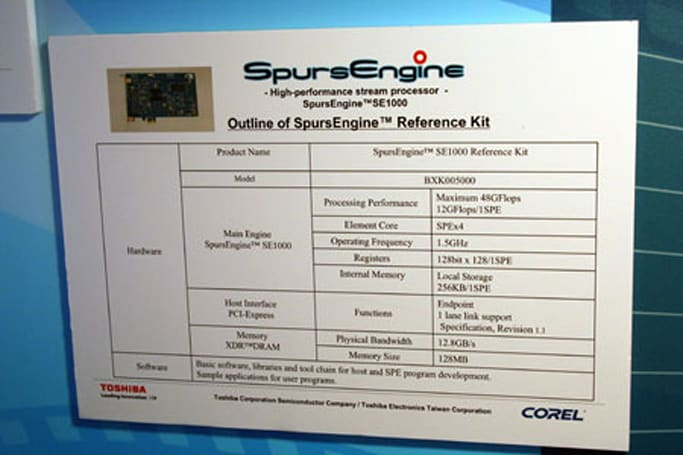 Toshiba's SpursEngine chip dominates in transcoding demonstration