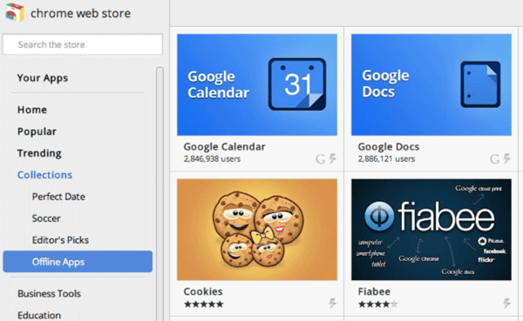Chrome Web Store adds offline app section, more markets and greater analytics for developers