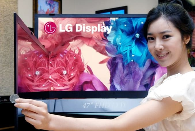 LG world's thinnest LCD is only 0.23 inches thick
