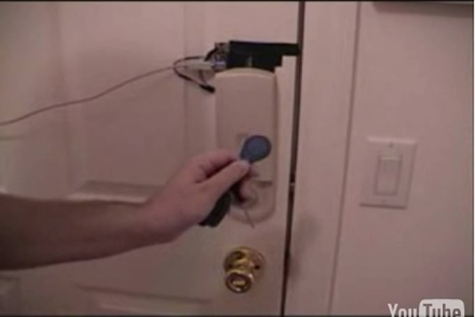 RFID deadbolt system also features remote browser control