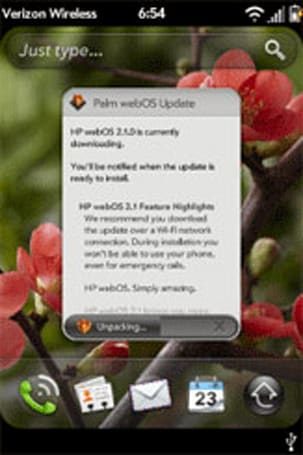 Verizon Palm Pre 2 gets its webOS 2.1 wings