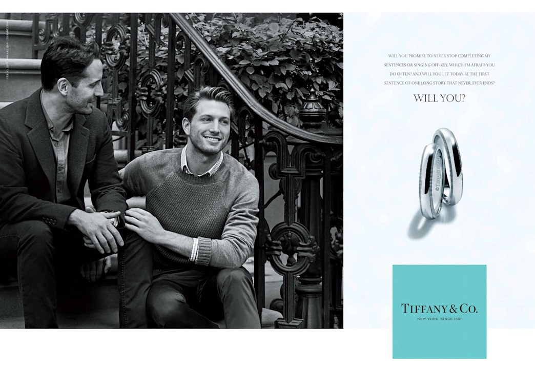 Tiffany & Co's new campaign stars a beautiful same sex couple for the first time
