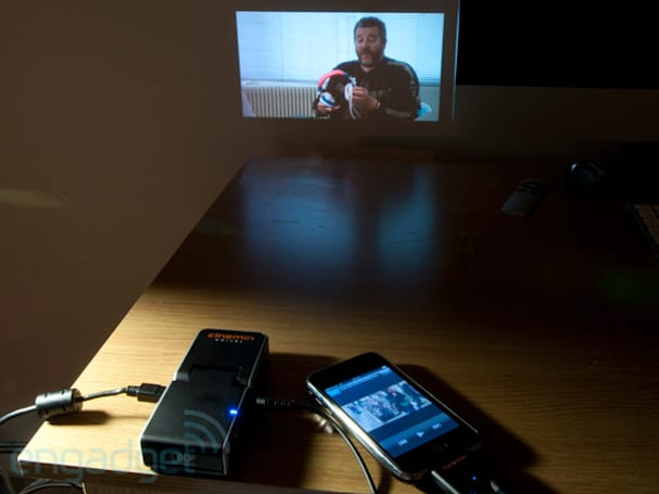 WowWee Cinemin Swivel iPod and iPhone pico projector review