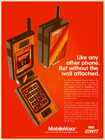 Modern technology sent through time vortex, redesigned for 1977