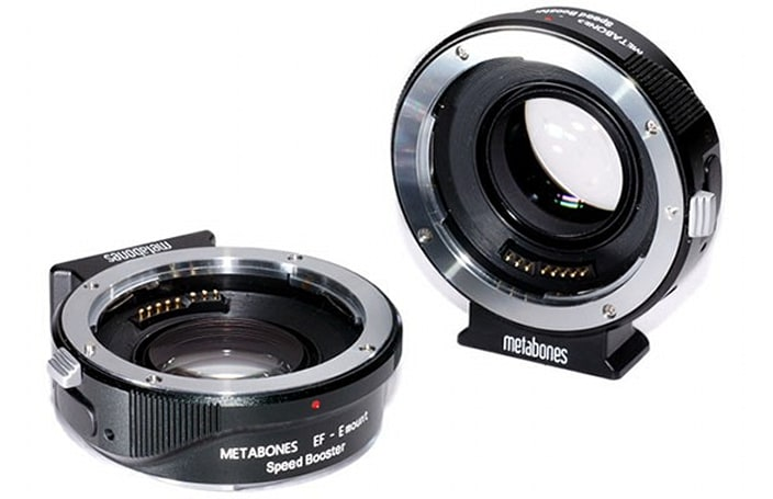 Metabones Speed Booster promises faster EF lenses when mounted on NEX cameras