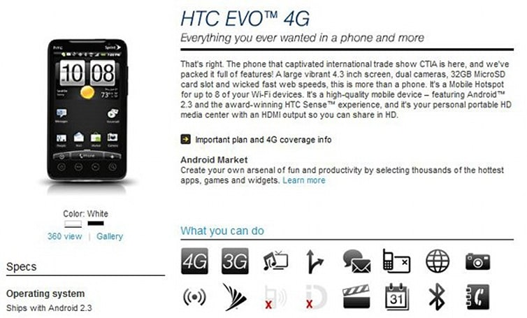 Sprint HTC EVO 4G now shipping with Gingerbread? (Update: mistakenly posted)