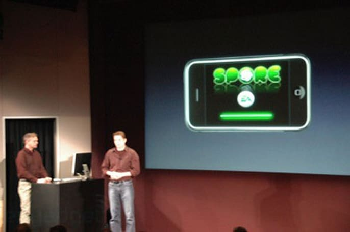 Spore, 'Touch Fighter' shown on iPhone