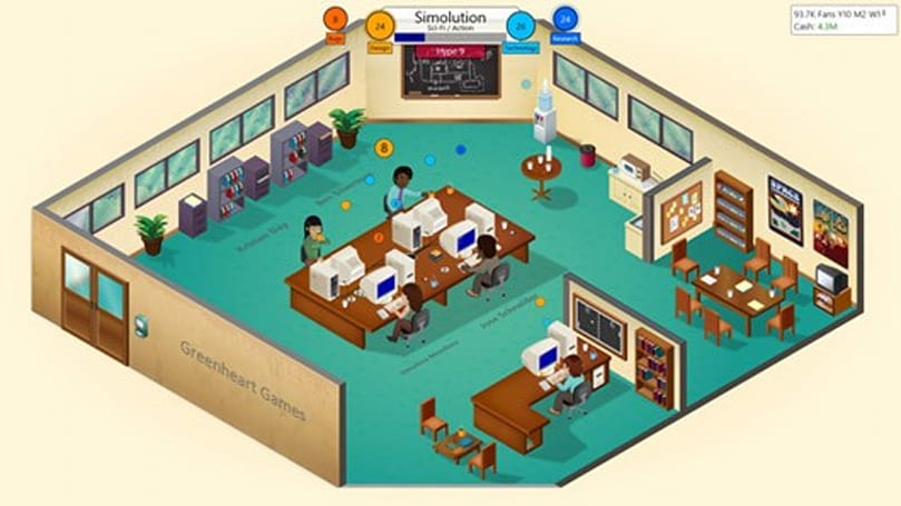 Game Dev Tycoon hi-res on Steam next week