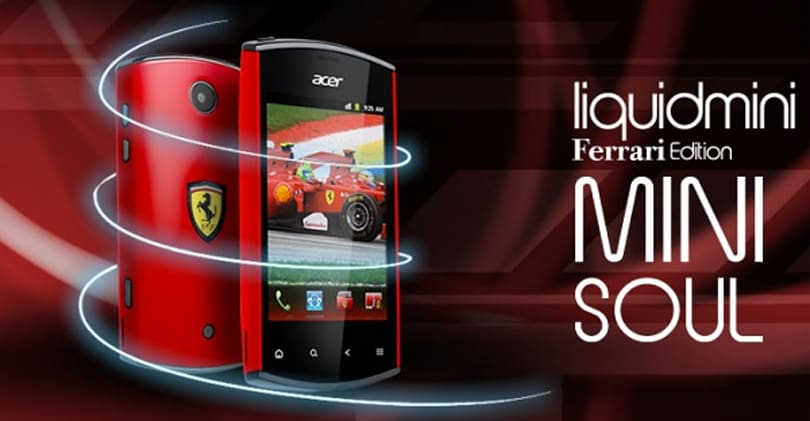 Acer's Liquid Mini gets Ferrari-fied, doesn't get any faster