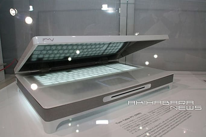Fujitsu's Turn Table PC and Ultra Mobile debut at CEATEC