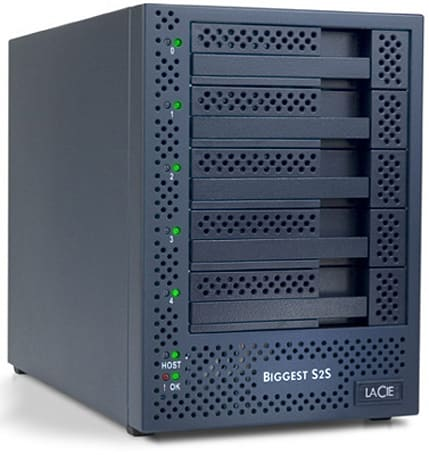 LaCie unveils 5TB Biggest S2S SATA RAID tower