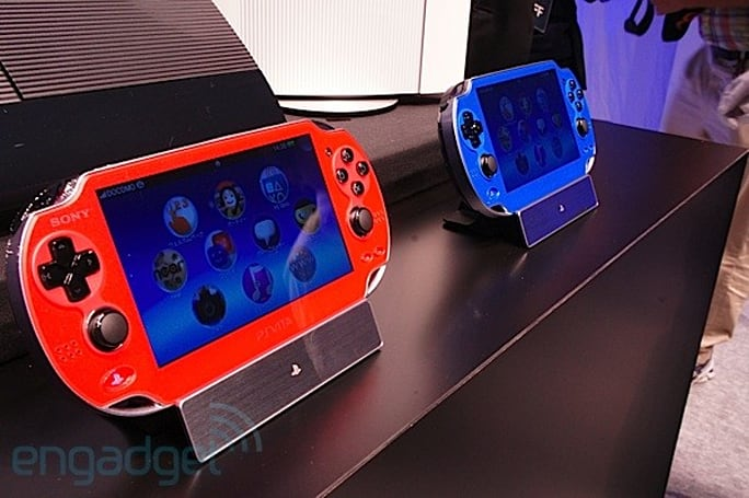 Sony's PlayStation Vita gets a blue and red-hued makeover, we take a closer look (eyes-on)