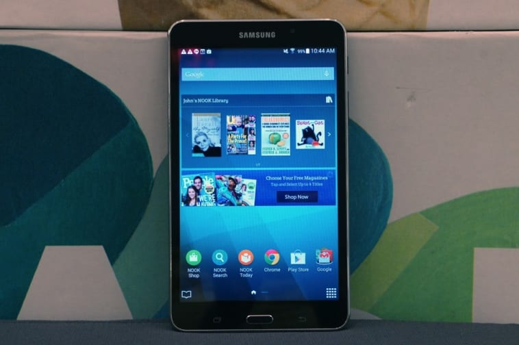 Samsung Galaxy Tab 4 Nook Review Good For Reading But