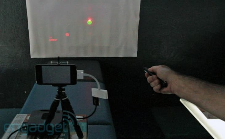 Alpha Range iOS game requires a pico projector and laser pointer, we go hands-on (video)
