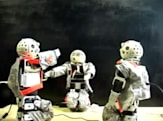 Tone-deaf robots teach each other to sing, passionately butcher a Happy Birthday rendition
