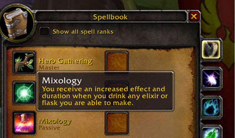 Alchemists can train Mixology in Patch 3.0.2