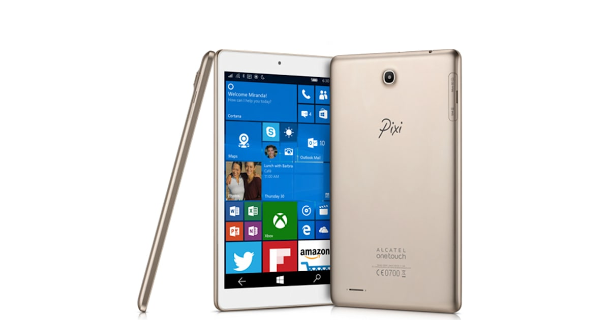 Alcatel OneTouch unveils its first Windows 10 tablet
