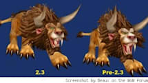 Tauren cat form updated a little in patch 2.3