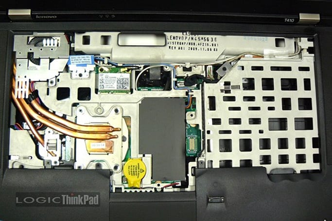 ThinkPad T410 has its innards exposed for the sake of a component upgrade guide