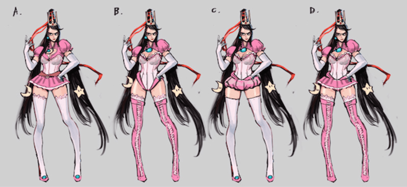 Platinum gets conceptual with Bayonetta's Nintendo costumes