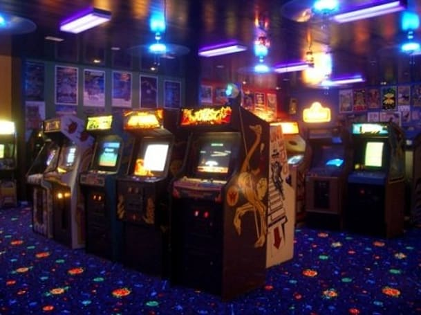 The 2400 square-foot private arcade