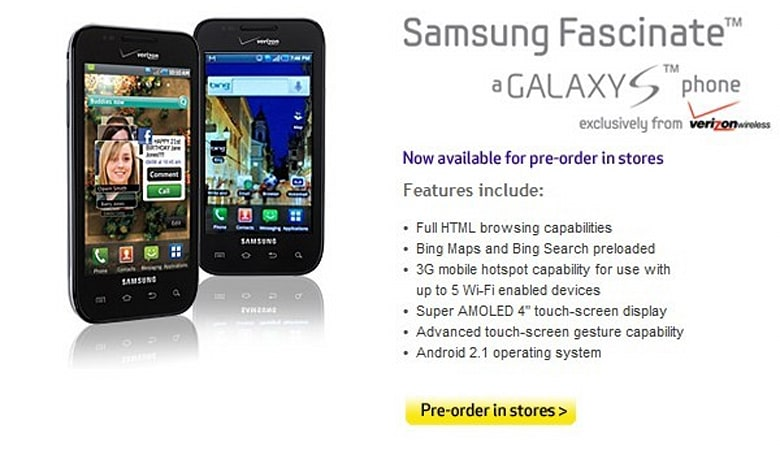 Samsung Fascinate ready for Best Buy in-store pre-order ahead of rumored September 9 launch
