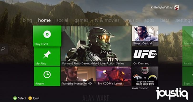 Fall 2012 Xbox dashboard update rolling out to all today
