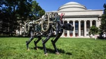 MIT's electric Cheetah robot silently bounds across campus