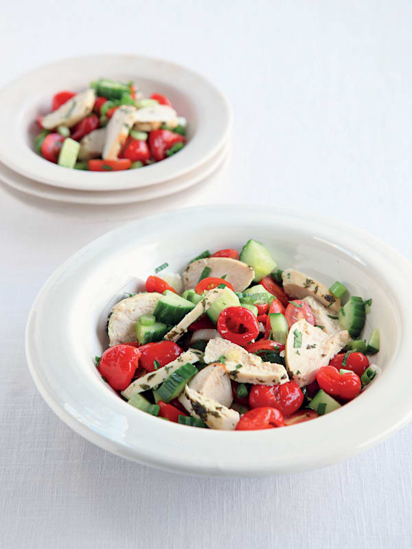 Grilled Gazpacho Chicken Salad recipe
