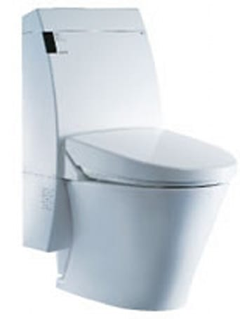 Inax's Satis Asteo Washlet toilet: pre-loaded with classical tunes