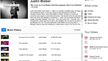 Vevo's website redesign simplifies the video watch page, adds artist pages