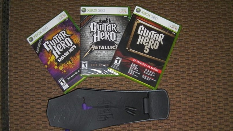 Swag Saturday: Guitar Hero triple pack and bass pedal