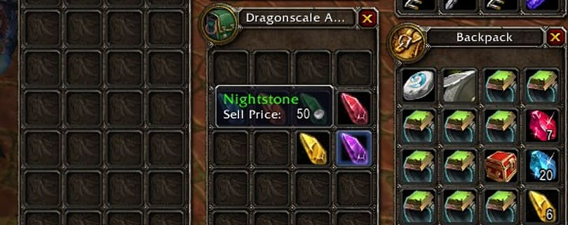 Patch 4.2 PTR: Uncut green gems vendor price reduced