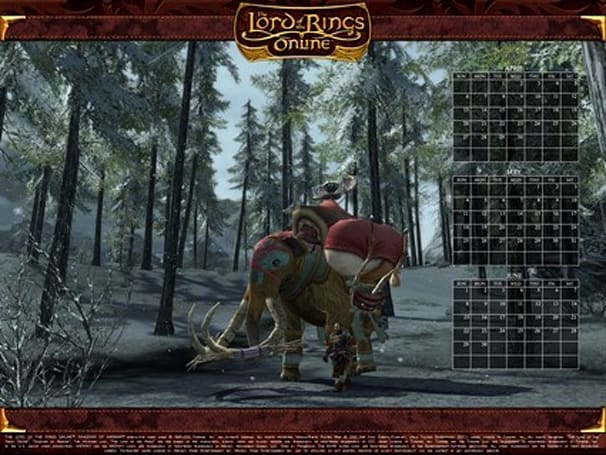 LotRO quarterly calendar wallpapers updated for Spring '08