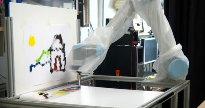 Eye-tracking robot arm lets you paint while you eat