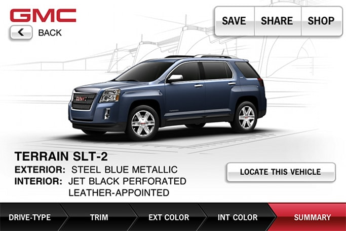 GMC showroom app tells you where to pick up your dream SUV, doesn't help with down payment