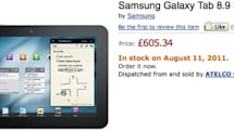 Samsung Galaxy Tab 8.9 shows up for pre-order at Amazon.co.uk, ships August 11th