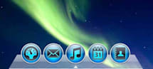 OS X Dock built using CSS 3, new iTunes style app icons