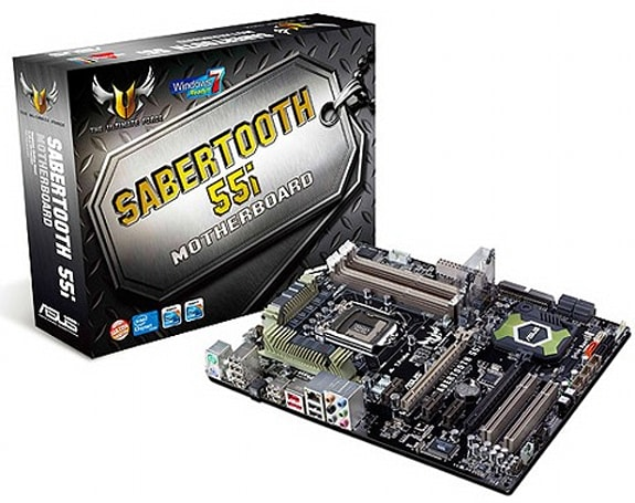 ASUS intros first 'Marine Cool' motherboard, the SABERTOOTH 55i