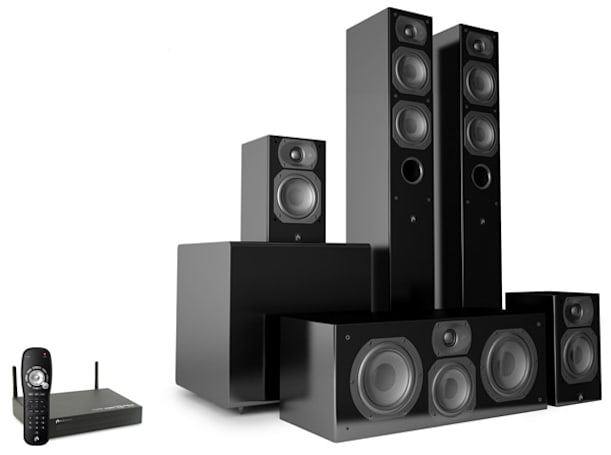 Aperion Audio Intimus 4T Summit touts uncompressed surround sound without the cords