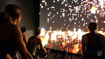 IMAX's in-theater spin class is sensory overload