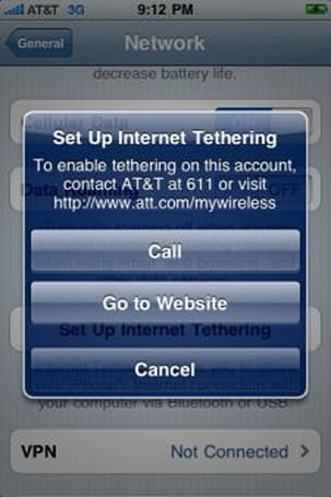 iPhone OS 4.0 to finally allow tethering