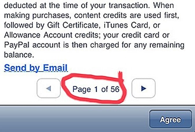 Got time to spare? Read the iTunes store agreement