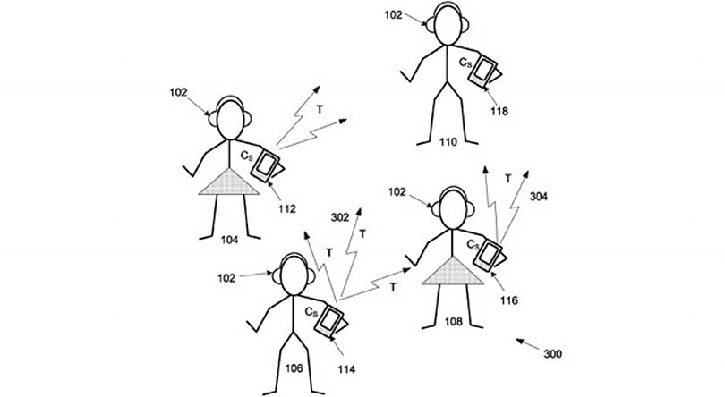 Apple patent shares your music's tempo to start private dance parties