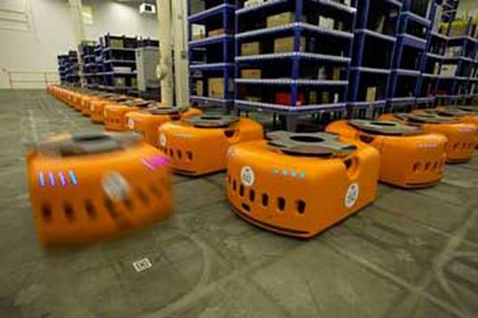 Zappos hires robots to take over inventory floor